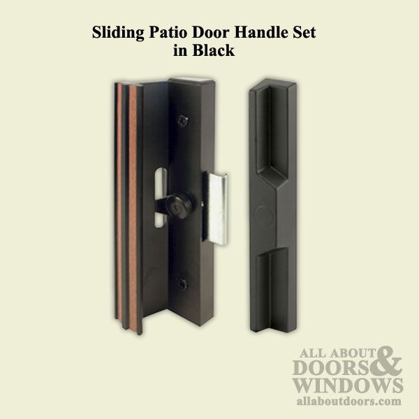 Handle Set   Sliding Patio Door, Extruded Aluminum / Diecast   Black $35.46