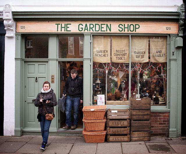 The Garden Shop | London great bistro style idea along with the garden shop!