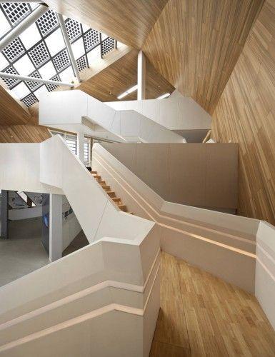 """#Escalier  & Architecture #Bois """"Cocoon"""" par Mochen Architects & Engineers à Tianjin en #Chine"""
