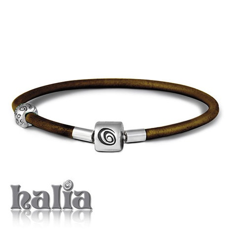 Leather Halia Bracelet (black, dark brown, lavender, light brown - 7, 7.5 or 8 inches): The leather Halia bracelet comes complete with a safety clip to keep your charms safe whilst open. A more casual look for your Halia charms, it accepts charms from most competing bead-style charm bracelets. Sterling silver, hypo-allergenic and nickel free.      $52.00