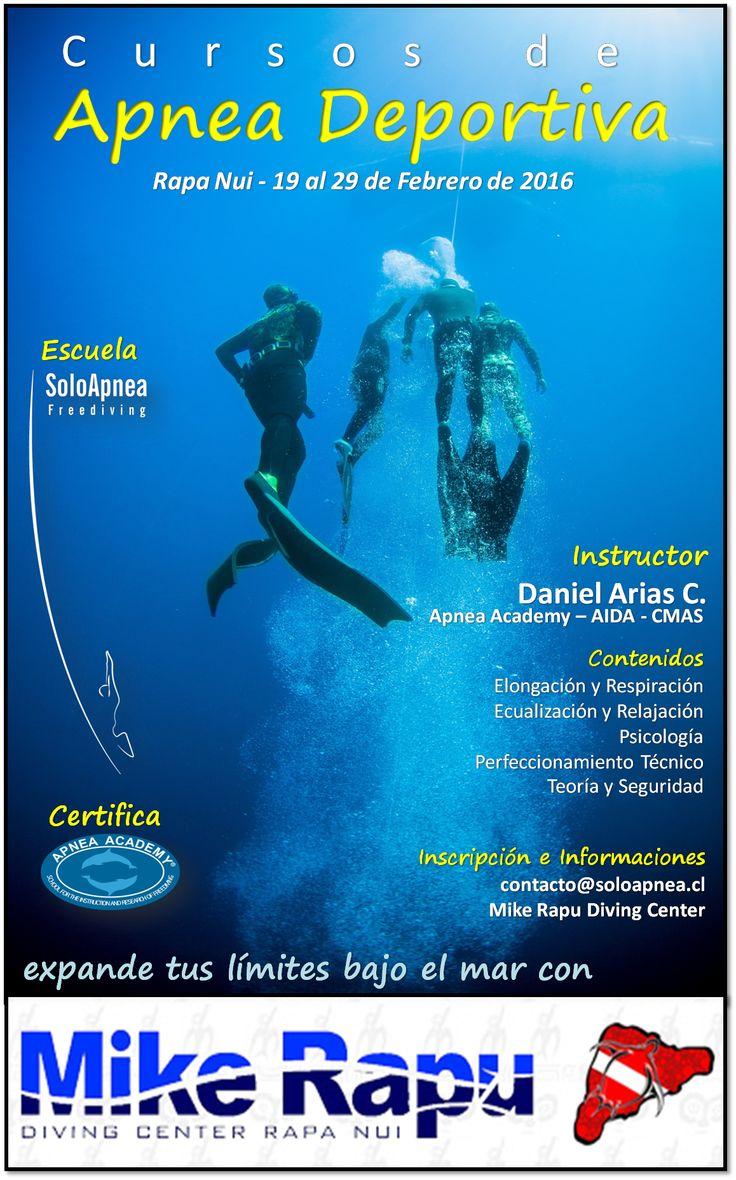 Mike Rapu Dive Center y SoloApnea  promueven el buceo a pulmón en Rapa Nui  info: contacto@soloapnea.cl