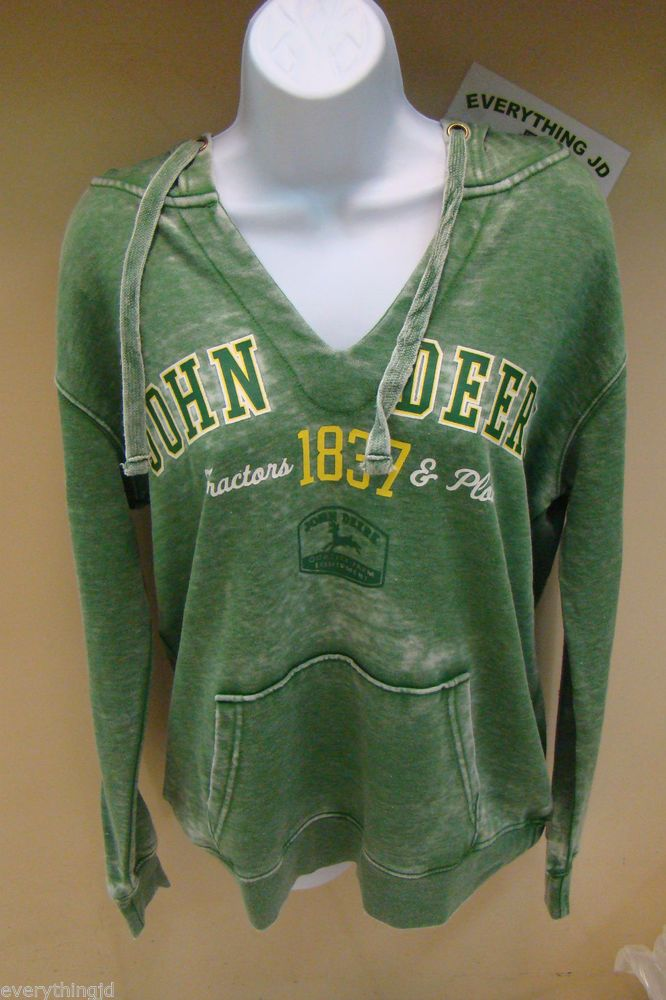 "Southern Wind Western Store - Ladies John Deere ""Tractor and Plows"" Burnout Hoodie, $31.00 (http://stores.southernwindwesternstore.com/ladies-john-deere-tractor-and-plows-burnout-hoodie/)"