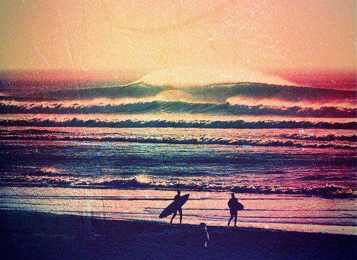 sunset surf: Endless Summer, Surf Up, Summer Day, Rainbows Colors, At The Beach, Beautiful Sunsets, Big Waves, The Waves, Photography