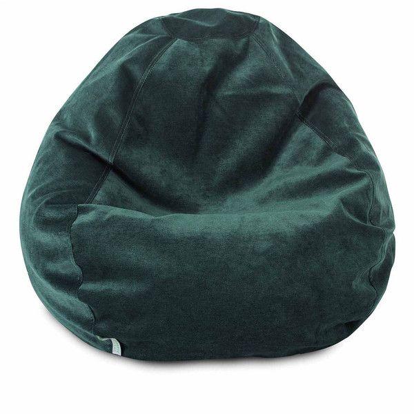 Cotton Small Bean Bag Chair, Green - Bean Bags > Bean Bag Chairs ($123) ❤ liked on Polyvore featuring home, furniture, chairs, bean-bag chair, beanbag furniture and bean bag