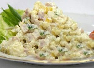 Simple Russian Salad recipe. Russian Salad is a healthy and nutritious recipe. It is the most typical salad mainly eaten in summer time, ideal for outdoor parties, and fabulous as cold starter. Posted by Arisha Haider.