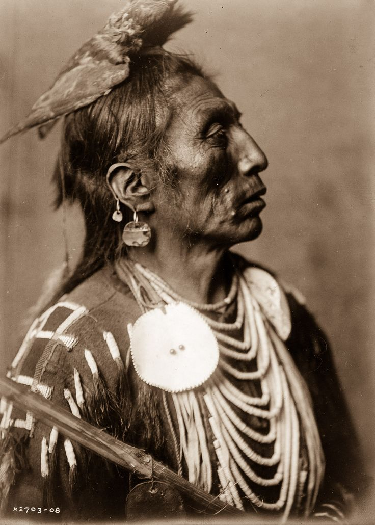 1908: Medicine Crow, of the Apsaroke tribe. // Edward S. Curtis spent more than 20 years documenting over 80 tribes across North America.