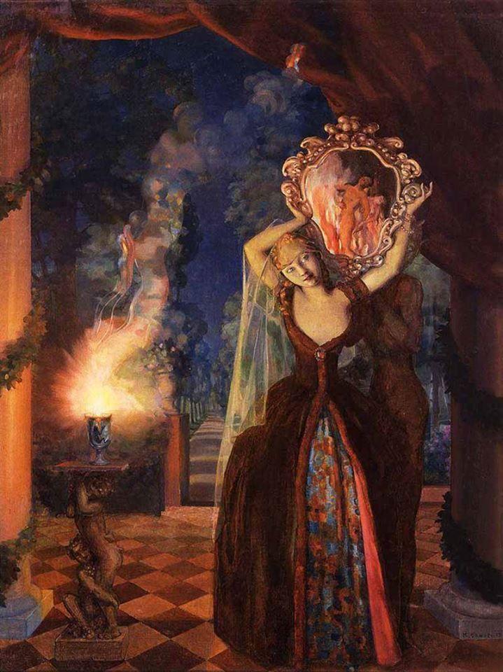 Сомов Константин Андреевич (1869-1939) «Волшебница»1915 (Konstantin Somov)