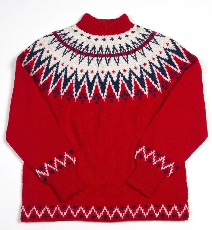 """Mønsteret """"FRISK"""" også kaldt """"FINNMARK"""" designet av Unn Søiland, og solgt som håndstrikkeoppskrift til Sandnes Ulvarefabrik i 1956."""