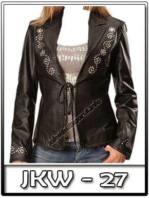 jkw 27 contoh jaket kulit hitam perempuan motif batik kembang