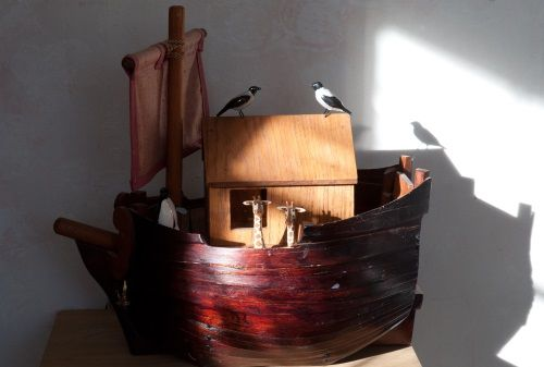Noah's arch. The first boat I made
