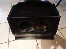 Vintage Wooden Bread Box Front Drop-Down Door W/Window Wood Black