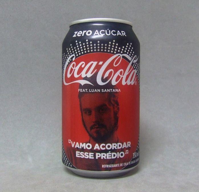 Lata de Coca Cola Zero Açúcar - Fan Feat - Luan Santana