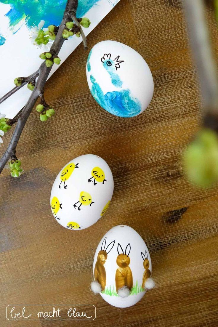 Fingerprint easter eggs from our family workshop  – Basteln mit kindern