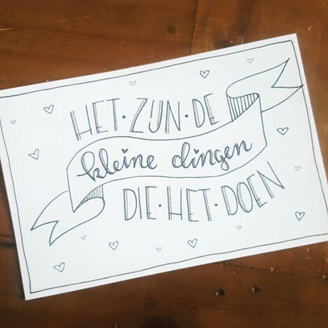 Dag 6 #dutchlettering Vandaag een jaar geleden kregen we de sleutel van ons appartementje en gingen we samenwonen. En net vandaag deze mooie spreuk, fijn! . . . #handlettering #handmade #drawing #drawingfonts #calligraphy #moderncalligraphy #fauxcalligraphy #quoteoftheday #quote #dutch @dutchlettering