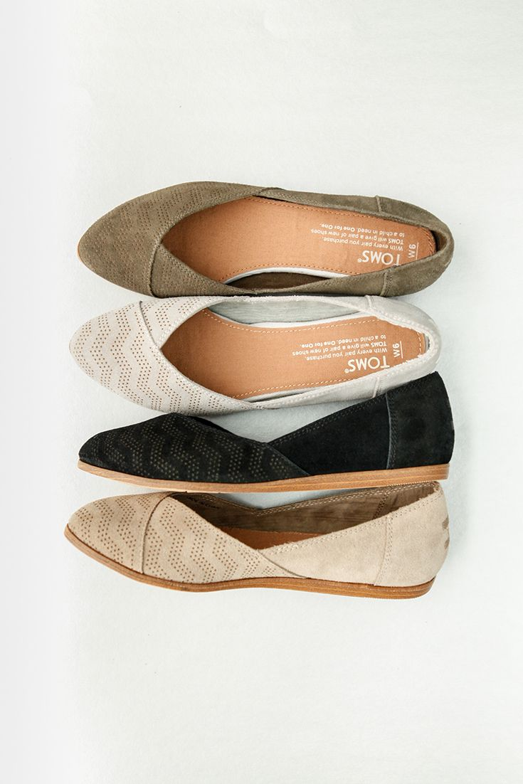 You'll start your look from the shoes up with comfortable and versatile TOMS Jutti Flats.