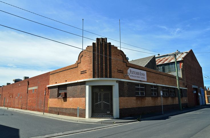 Fletcher Jones building, classic 1930s, Brunswick, Melbourne, Australia 2013