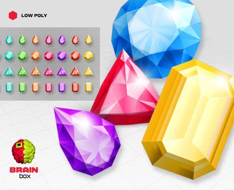 Gems – Drop / Emerald / Round / Trilliant – Low Poly https://www.assetstore.unity3d.com/en/#!/content/19605