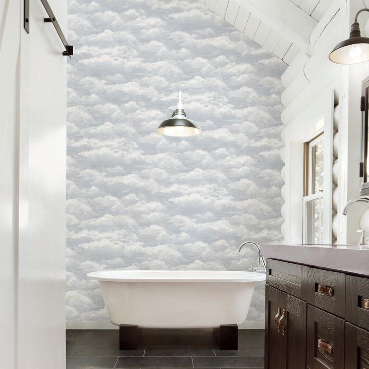 8 in. x 10 in. Solstice Dove Cloud Wallpaper Sample