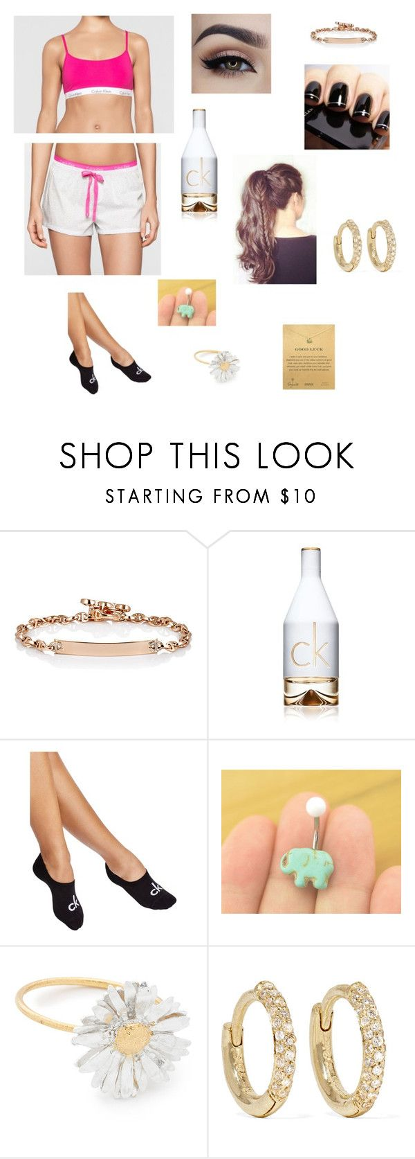 Untitled #222 by katrine-frid on Polyvore featuring Calvin Klein, Jennifer Meyer Jewelry, Dogeared, Hoorsenbuhs and Alex Monroe