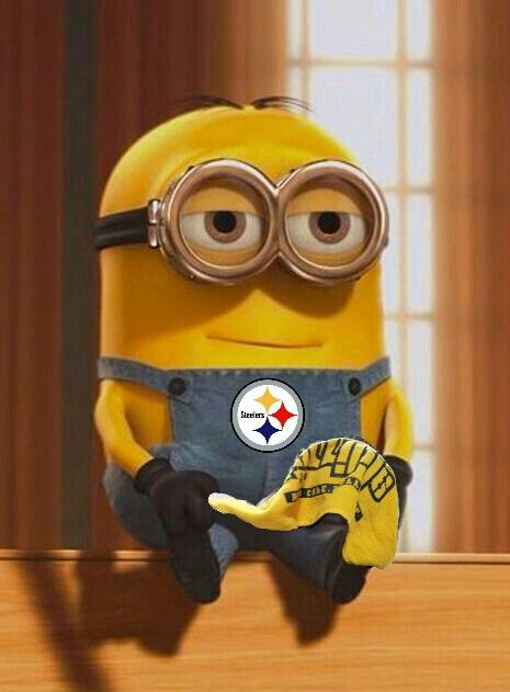 PITTSBURGH STEELERS~Minion loves Steelers