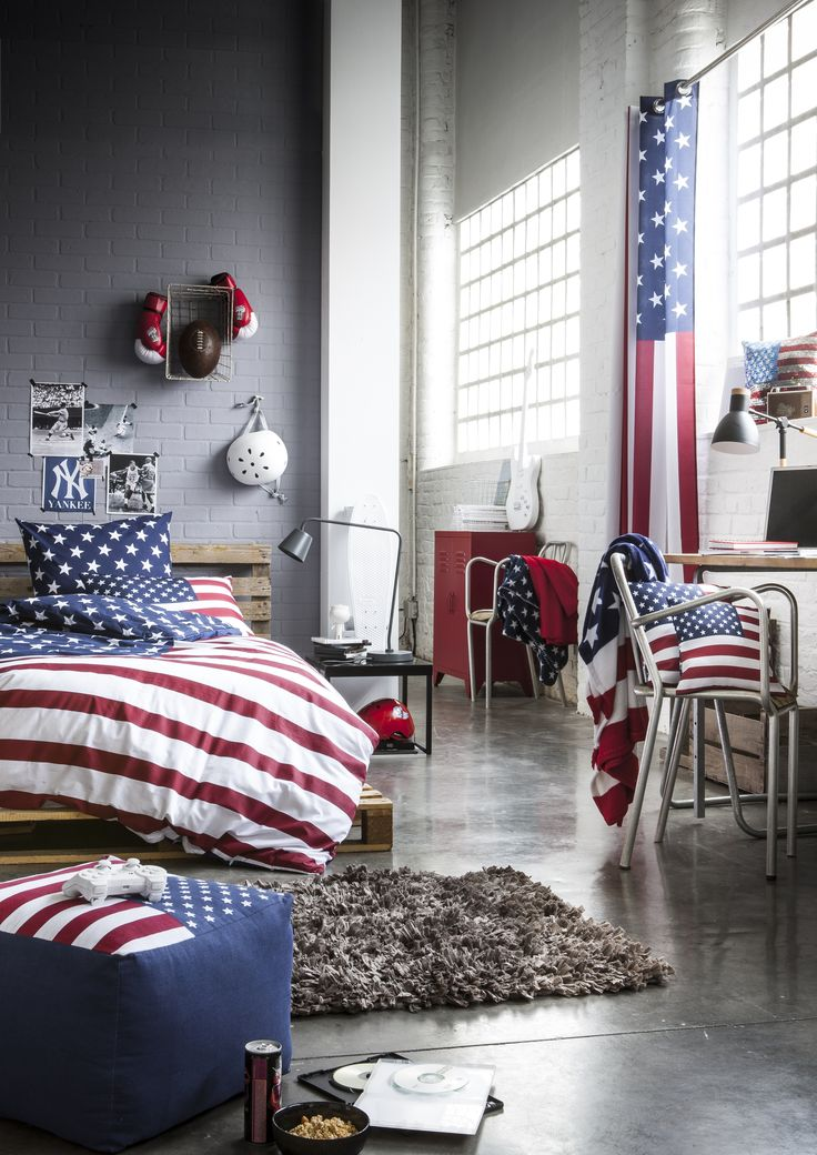Deco usa chambre for Chambre a coucher usa