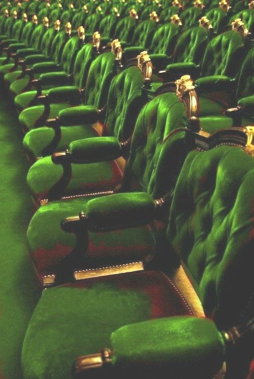 Green - What do you see when the theater curtain lifts?