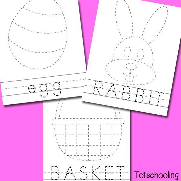 easter picture word tracing printables preschool projectseaster activitiespreschool - Tracing Activities For Kids