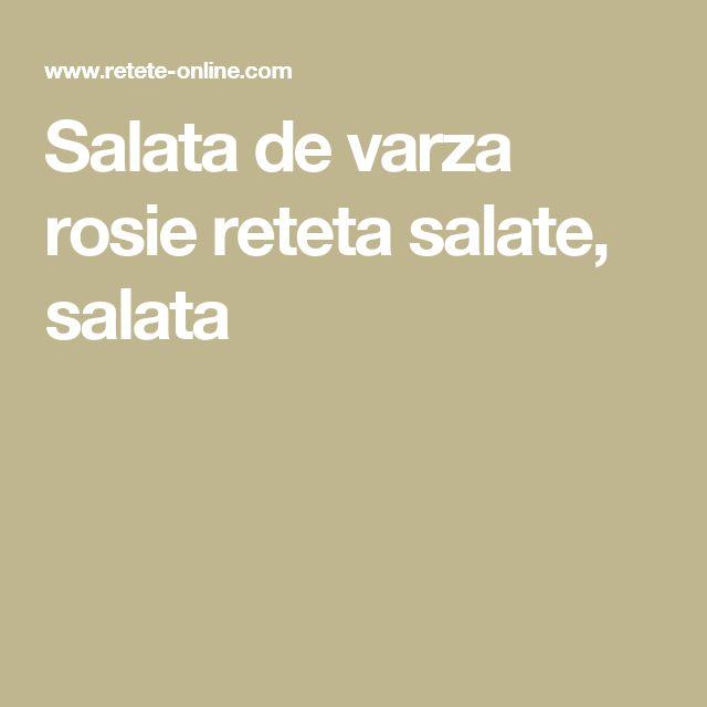 Salata de varza rosie reteta salate, salata