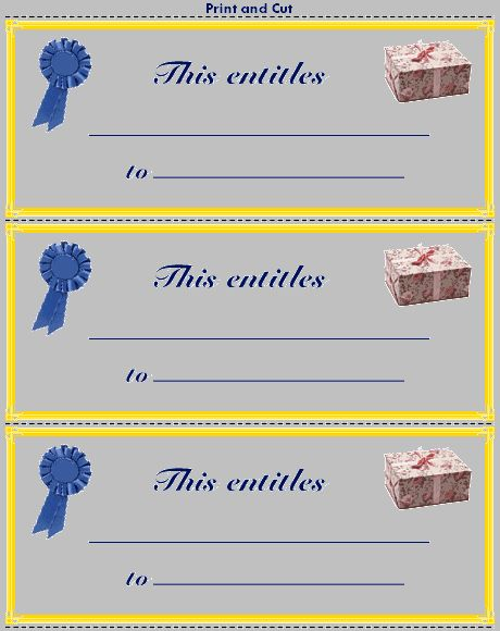 Make Gift Certificates - TeacherVision.com