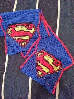 Superman Scarf ~ free pattern