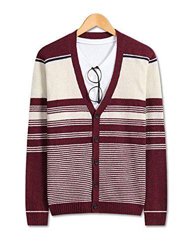 Showblanc (SBSBGA21) Attractive People 3 Striped Color Classy Knitwear Cardigan WINE Large(Chest 38) Showblanc http://www.amazon.com/dp/B0151MXKIU/ref=cm_sw_r_pi_dp_rWVlwb15R8274