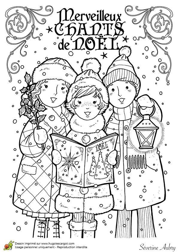 Dessin colorier de chants de no l la couverture du livre christmas - Dessin de noel a colorier ...