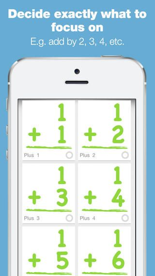 Bitsboard Math - Cool Math Games For Kids ($0.00)   • pre-loaded with custom math boards to master multiplication, addition, subtraction, and division •  pre-loaded with custom boards for each unique set of numbers (whether you want to learn adding by 2 or multiply by 4). •  easy to customize so you can easily add multiple users and decide exactly what games and content to make available for each user •  easily create your own custom math lessons and share them with others