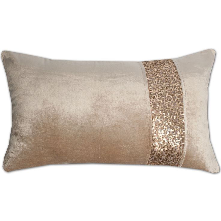 luxury zippered sequin stripe decorative throw pillow