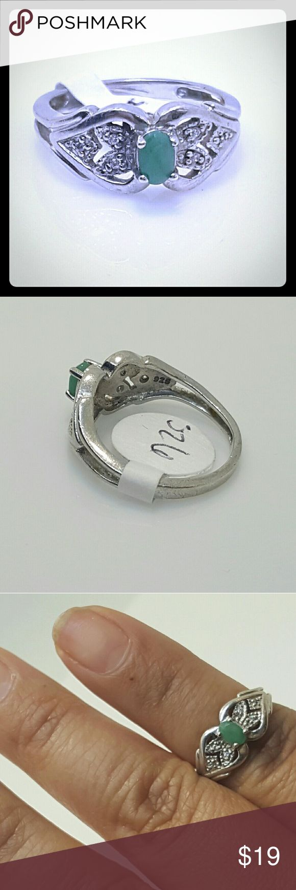 Nice 925 silver ring with jade stone Nice 925 silver ring with jade stone Jewelry Rings