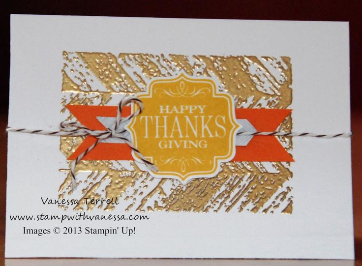 www.createwithbev.blogspot.com From Vanessa Terrell Tags 4 You: Stampin Fall, Night Stamper, Happy Thanksgiving, Late Night, Cards Stampin, Terrell Tags, Http Www Stampwithvanessa Com, Vanessa Terrell