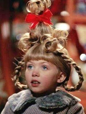 Cindy Lou Who...hairdo!                                                                                                                                                      More