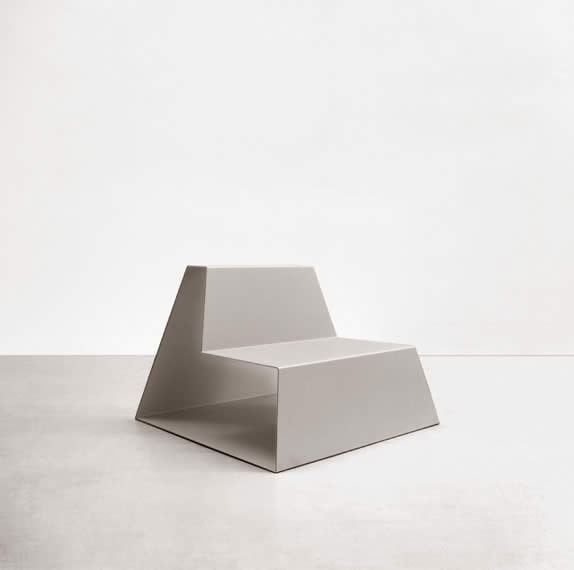 fd 101 - seat  design by Federico Delrosso product by henrytimi  Alluminium seat dimensions: 90 cm x 90 cm x h65/32.5 cm