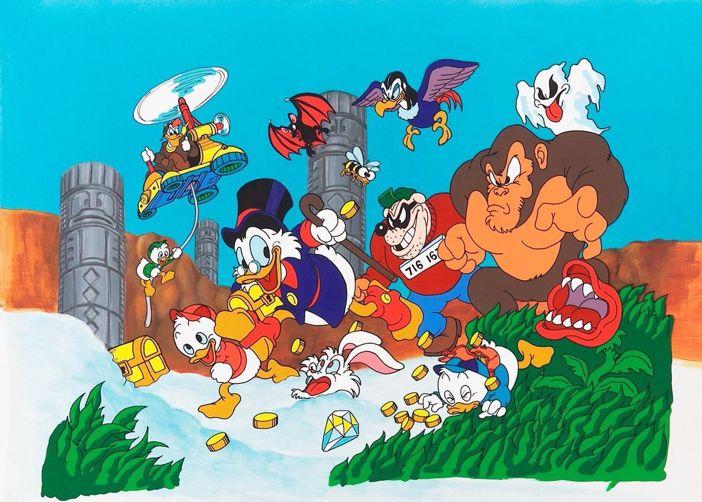 Unused DuckTales box art (Famicom) drawn by Mega Man creator, Keiji Inafune.