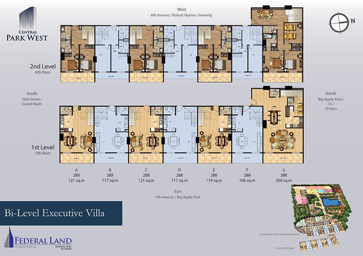 central park west villa floor plan 5th to 6th floor