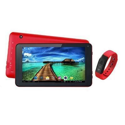 "7"" Tablet And Red Fitband  #border51"