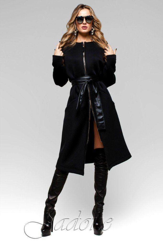 Тренч-пальто Greta черное