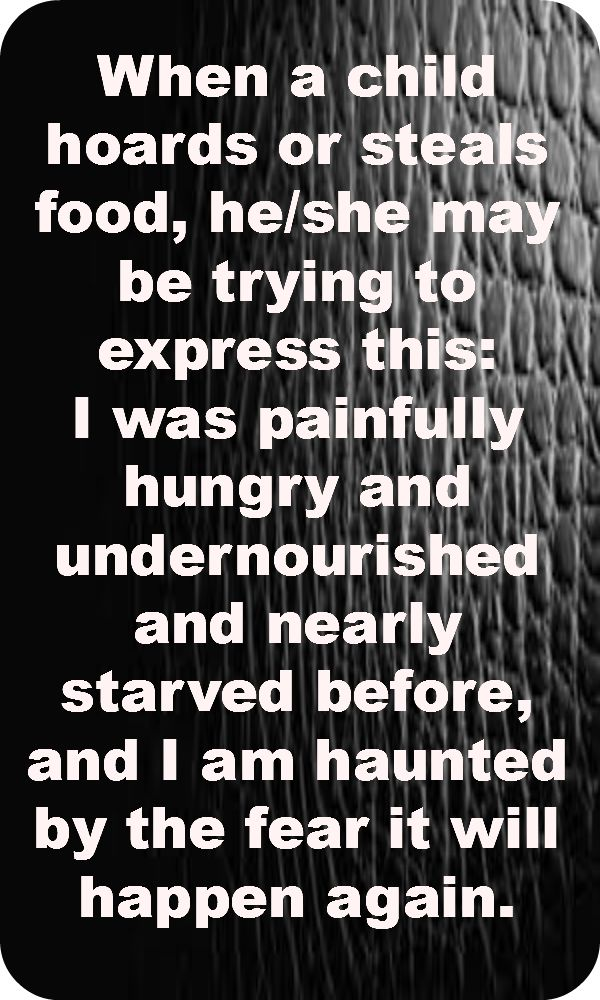 Dr. Karyn Purvis - helpful to know and understand. too many children have been hungry for too long.