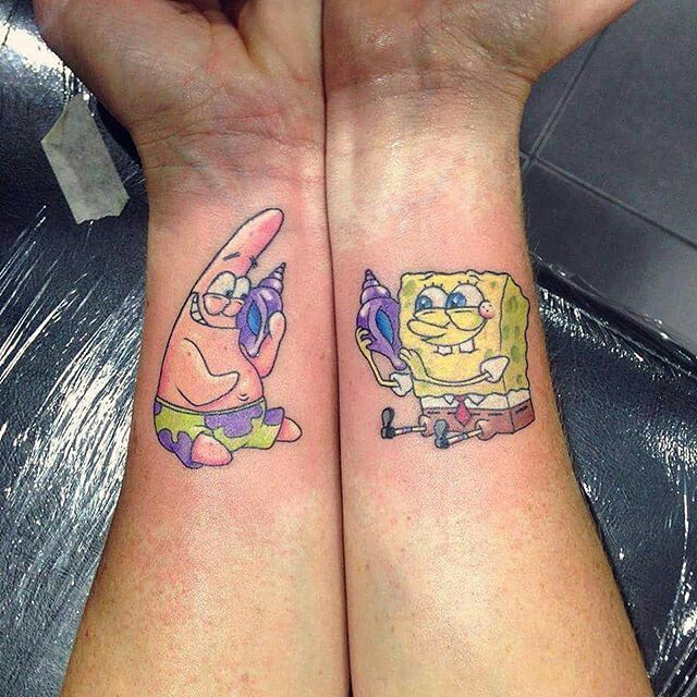 25+ Best Ideas About Matching Best Friend Tattoos On