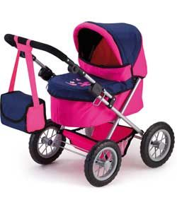 Buy Bayer Trendy Doll's Pram - Pink and Dark Blue at Argos.co.uk, visit Argos.co.uk to shop online for Doll prams and pushchairs