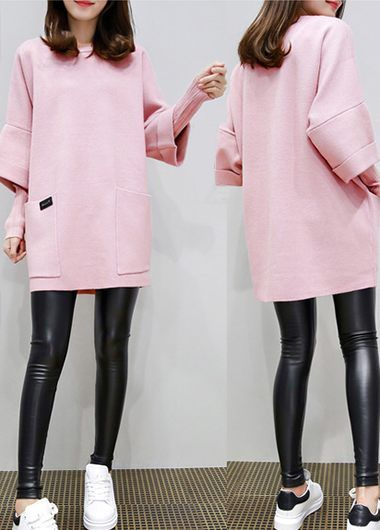 Pocket Embellished Pink Faux Two Piece Sweatshirt on sale only US$30.73 now, buy cheap Pocket Embellished Pink Faux Two Piece Sweatshirt at lulugal.com