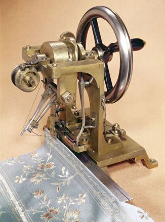 Howe's sewing machine made in 1846: Howe's was a man in the U.S. whom made a sewing machine. This product was made worldwide after Howe showed it in Great Britain. This sewing machine was the first to machine to combine thread all the way though and lock in the weave. This invention helped thousands of women to make a lot more clothes for their family members during the late 1840's since women before this invention use to it by hand.