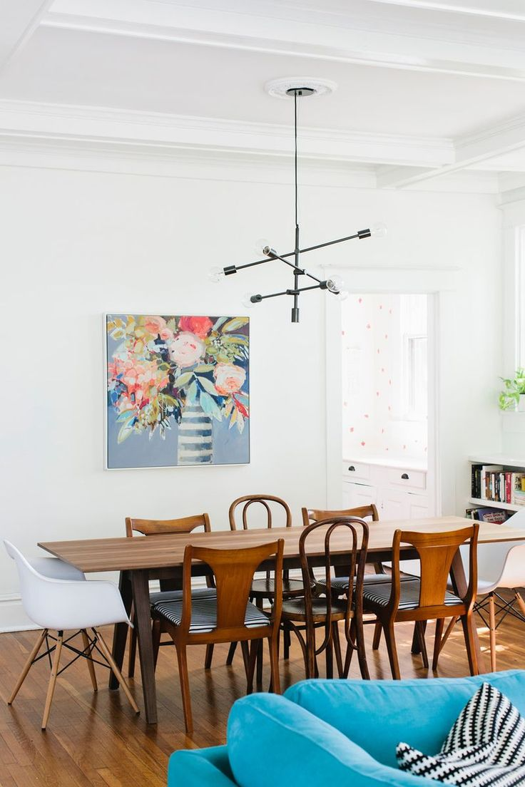 Love this light fixture! I literally love every single room in this A Beautiful Mess House tour.