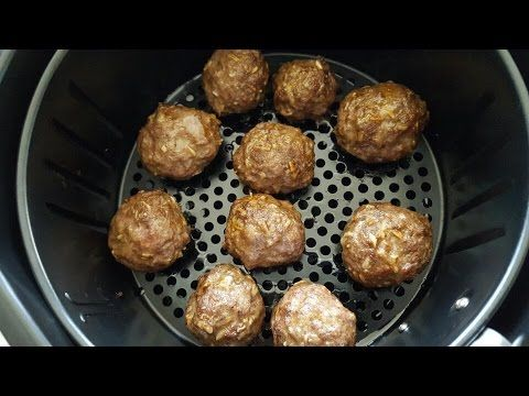 AirFryer Meatball SUB sandwich Cook's Essential air fryer - YouTube