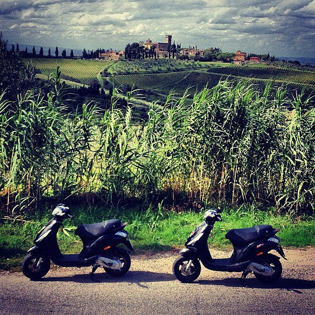 Ride a scooter through Tuscany